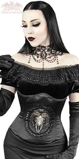 Ewelina modelling her #Goth girl under-breast bustier