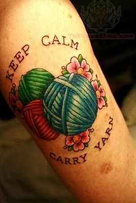 Keep Calm, Carry Yarn or Keep Calm, Crochet On