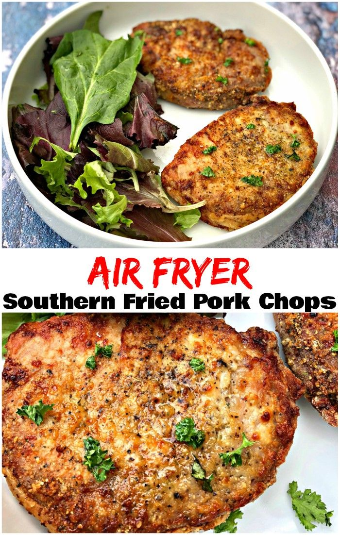 Air Fryer Southern Style Fried Pork Chops