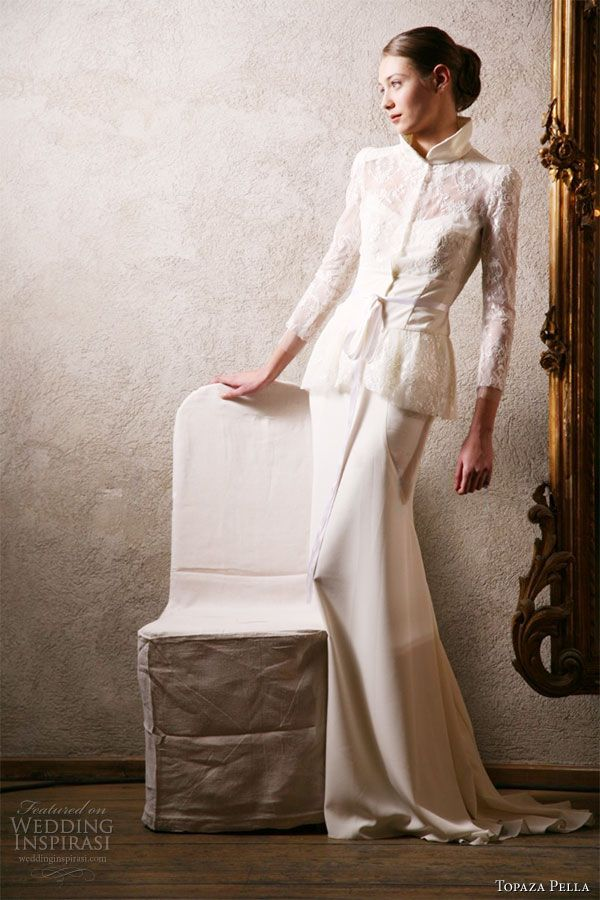 Topaza Pella 2010 Simply Love Bridal Gown Collection - Margarita wedding dress with jacket
