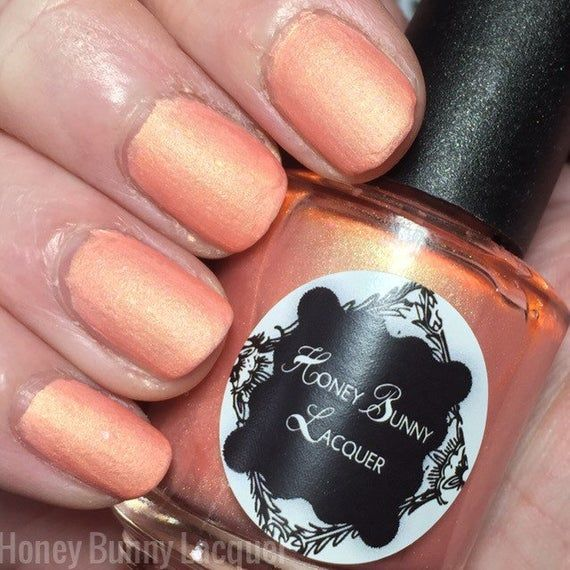 Peachy Keen Peachy Keen is a matte peach polish with green shimmer and color shi…