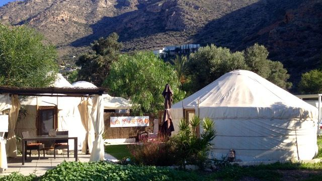 Gorgeous Yurts, all year round Naturist Holiday, Southern Spain