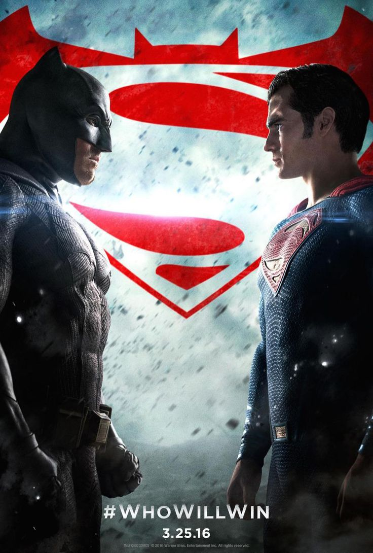 The Batman vs Superman Poster. Who Will Win?