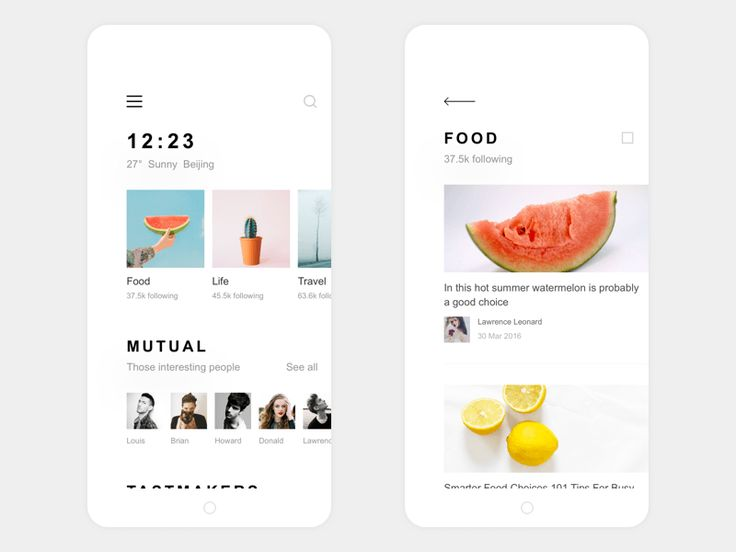 My Life App Design Find & Food List Thank @Nelson Noa I have to learn your work  If you like, please Press