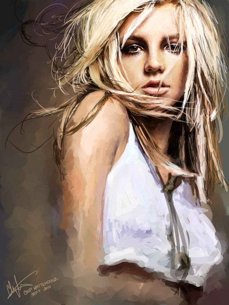 Blackout by *chipwhitehouse on deviantART [Britney Spears digital painting] #Art #BritneySpears