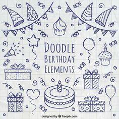 Doodle Birthday Bullet Journal