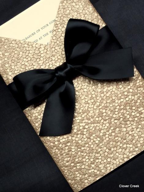wedding invitations glamour elegant champagne invites shimmer square luxury