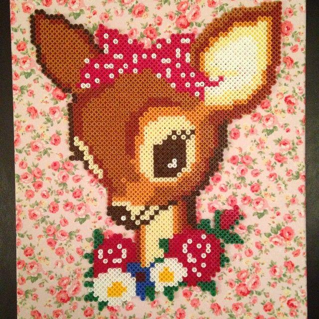 Deer hama perler beads by vixxi89