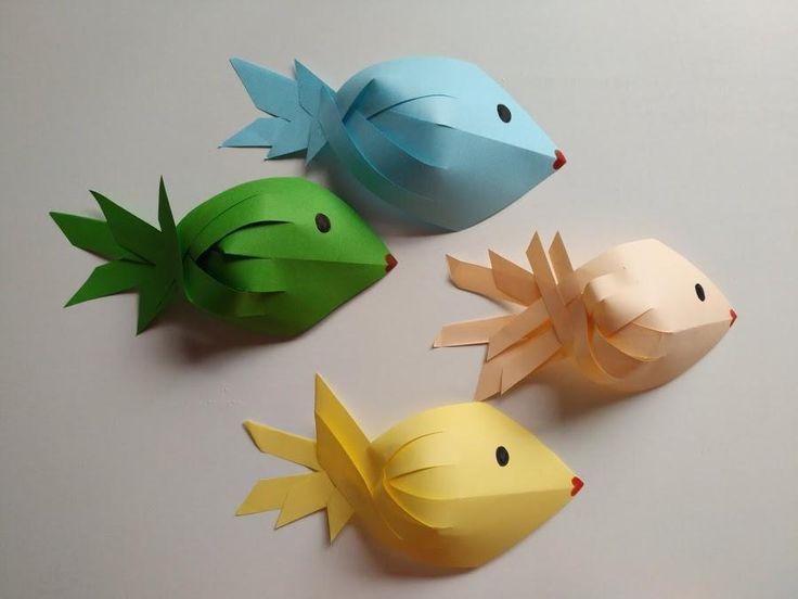 Las 25 mejores ideas sobre pez de papel en pinterest y m s for Como hacer un lago para peces