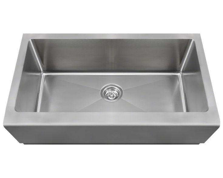 """Polaris 33"""" Single Bowl Stainless Steel Farmhouse Apron Sink P504 - Farmhouse Kitchen and Bath"""