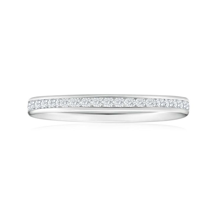 Cubic Zirconia All the Way Around Channel Ring in 9ct White Gold ($69.95) from Shiels.com.au