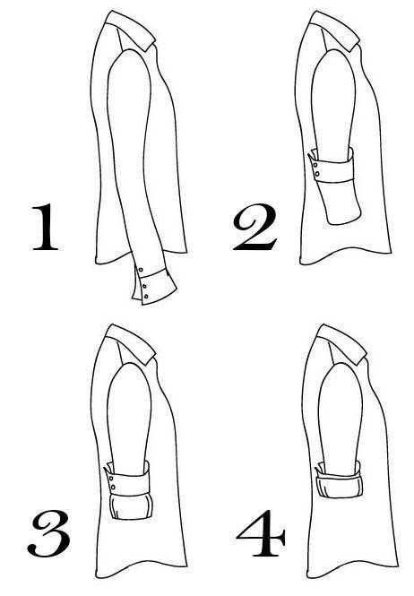 La manera correcta de doblar las mangas de una camisa: | 18 Datos gráficos que todo el mundo necesita saber en la vida