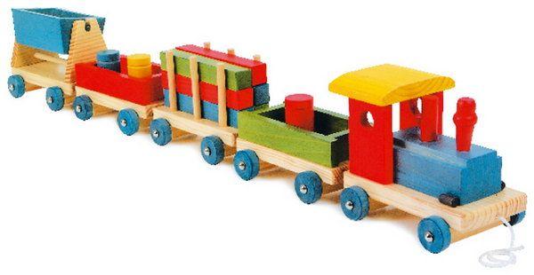 Tren de madera infantil Emil Marca: juguetesdemadera.com