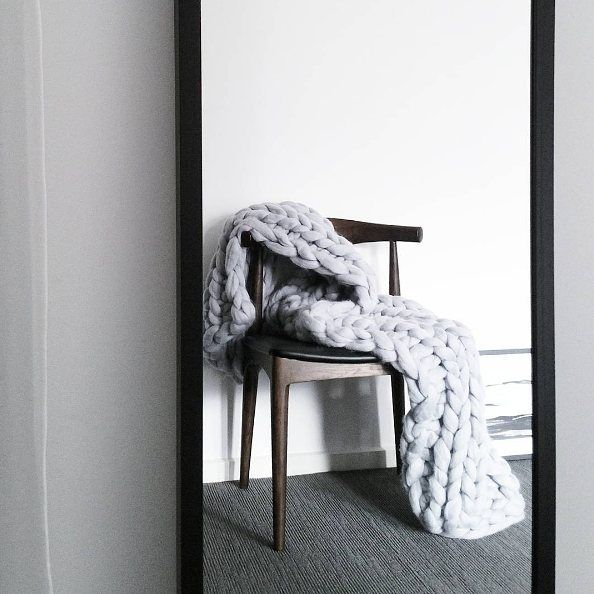 This stunning shot from @montytribe of our favourite chunky knit throw from@closely.knit. The bedroom essential this winter!