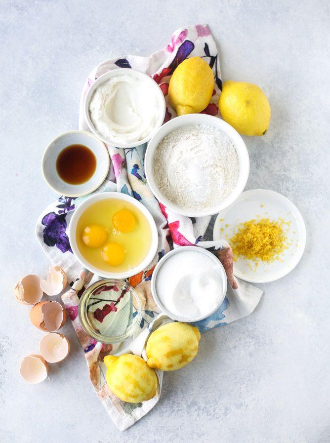 greek yogurt lemon loaf I howsweeteats.com @howsweeteats