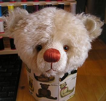Ahead By A Nose! How-To Embroider A Teddy Bear's Nose Tutorial by Paula Carter of All Bear By Paula Carter