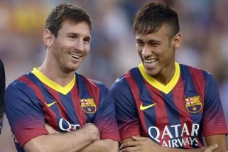 Lionel Messi and Neymar, the UEFA doping control