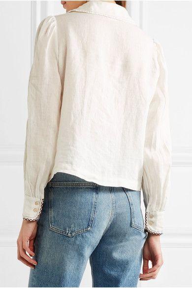 Étoile Isabel Marant - Daloa Stitched Linen Blouse - Ecru - FR36