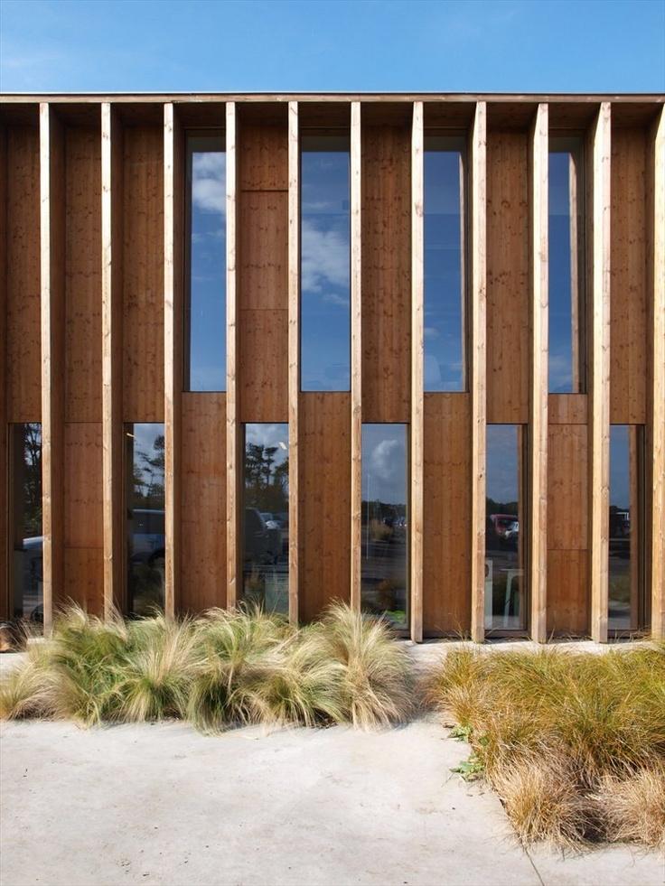 madera en diseo de fachada