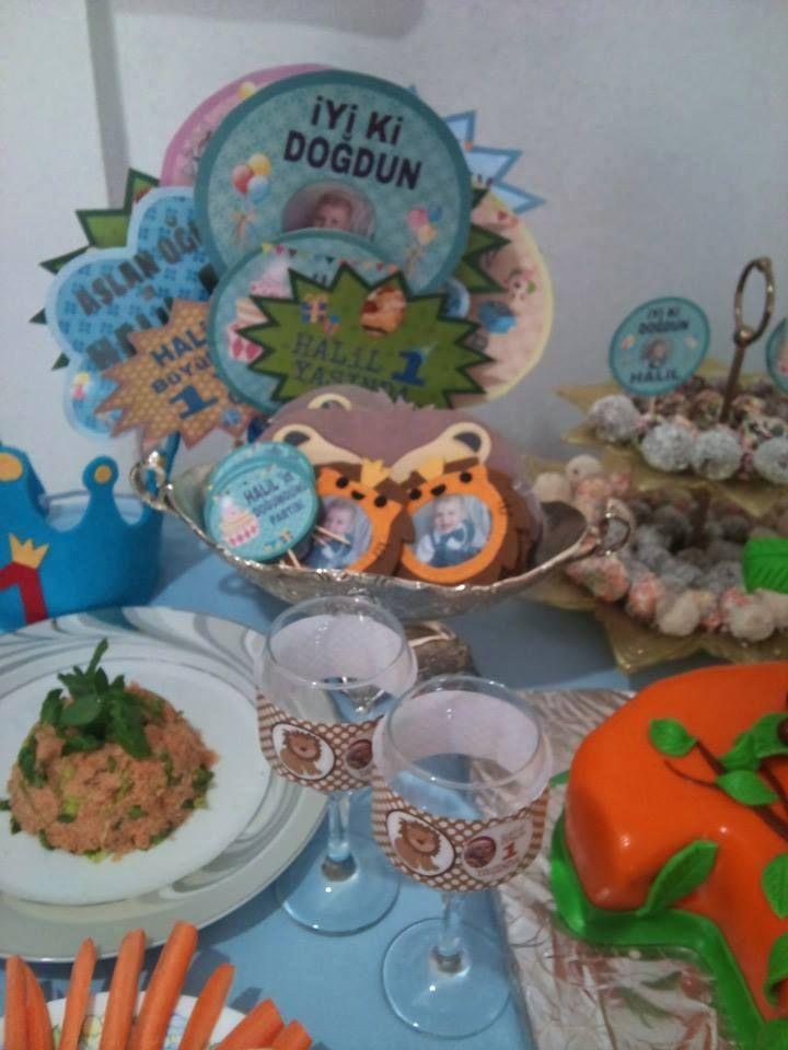 ikramlıklar, konuşma balonları, miniklere hediyelikler - birthday party