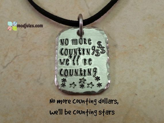 Counting Stars One Republic Hand Stamped Silver by ModJules, $17.00