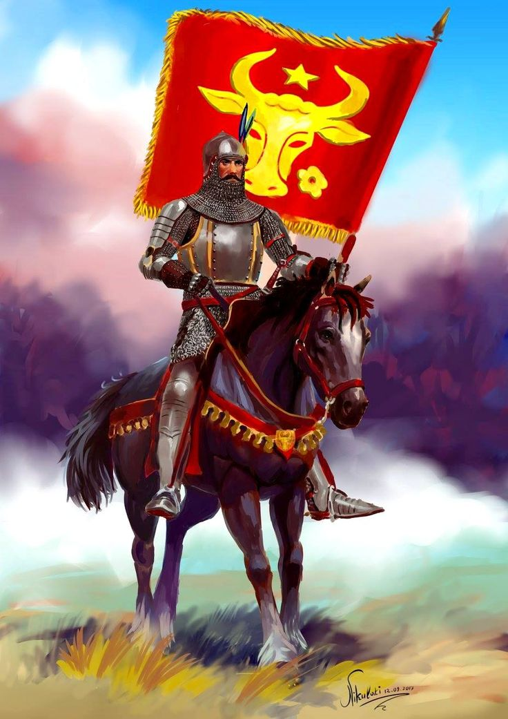 Standard-bearer from the army of Stephen the Great.