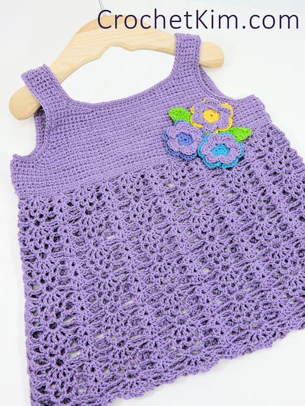 CrochetKim Free Crochet Pattern | Bouquet Baby Top @crochetkim 12 months with 18 months in parenthesis