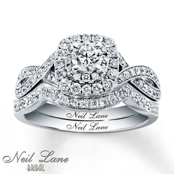 Neil Lane Bridal Set 7/8 ct tw Diamonds 14K White Gold