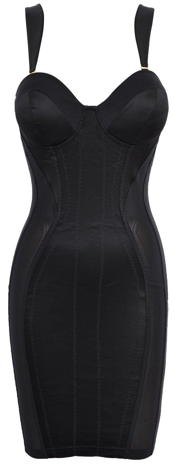 'Mistress' Black Satin & Mesh Corset Pencil Dress by Celeb Boutique. HOT!!