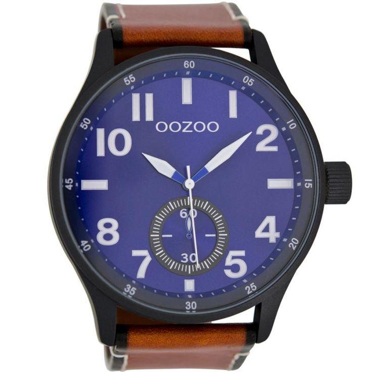 Ρολόι OOZOO Timepieces XXL Brown Leather Strap - C7082 - See more at: http://www.e-jewels.gr/e-shop/rologia/roloi-oozoo-timepieces-xxl-brown-leather-strap-23-detail.html#sthash.RlOdwxe5.dpuf