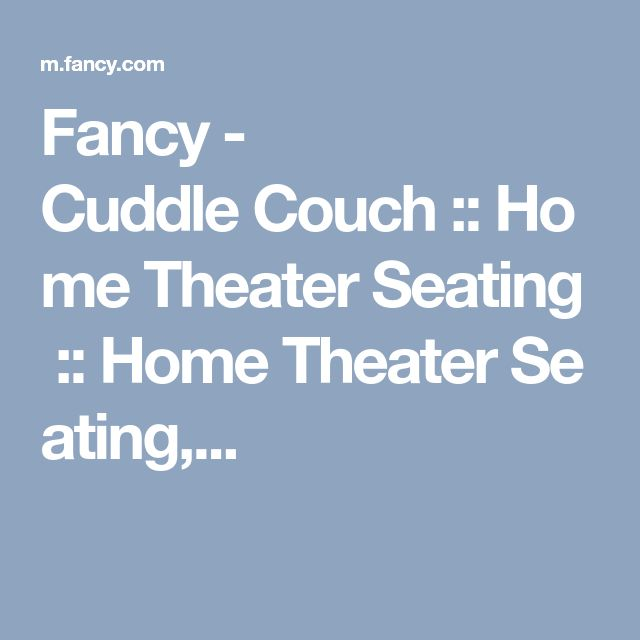 Fancy   Cuddle Couch :: Home Theater Seating :: Home Theater Seating,.