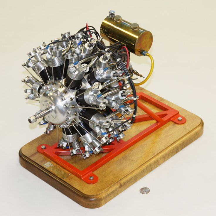 18-Cylinder, Two-row Radial Engine, 1/4 scale