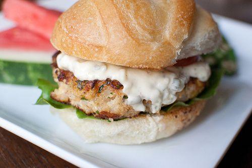 shrimp burgers: Tartar Sauces, Shrimp Burgers, Seafood Nom, Summer Dinners, Delicious Yummy, Pink Parsley, Summer Cookout, Salmon Burgers, Burgers Recipes