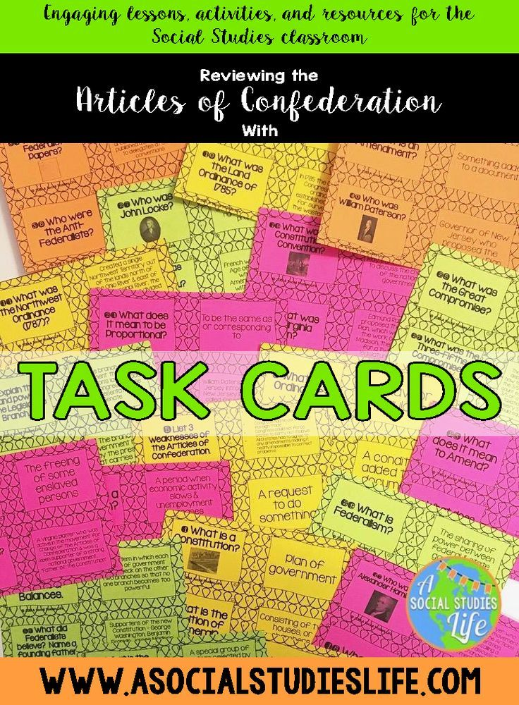 Finished with the Articles of Confederation unit? There are so many ways to review with students before their formal assessment. This review has students research answers using their notes and they can work in cooperative groups to answer the questions. G