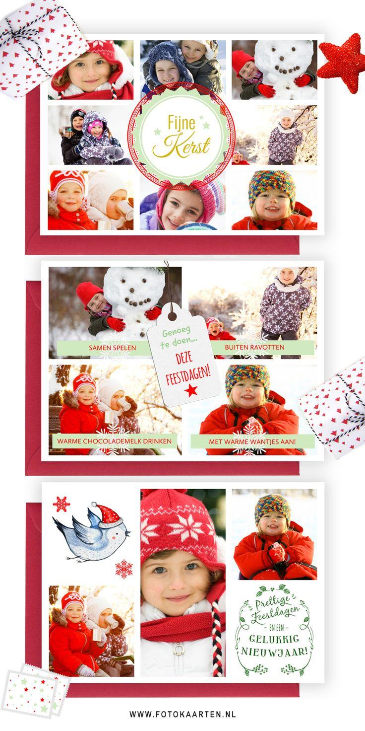 3 fotocollages van www.Fotokaarten.nl. Het is heel eenvoudig om de foto's up te loaden en te wisselen naar wens. Er zijn diverse collage's om uit te kiezen. Je kunt ze versieren en de achtergrondkleur aanpassen, precies zoals je wilt. www.fotokaarten.nl