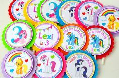 My Little Pony Cupcake toppers, My little pony Birthday party, Cupcake toppers in rainbow colors -Set of 12 #babyshowerideas4u #birthdayparty #babyshowerdecorations #bridalshower #bridalshowerideas #babyshowergames #bridalshowergame #bridalshowerfavors #bridalshowercakes #babyshowerfavors #babyshowercakes