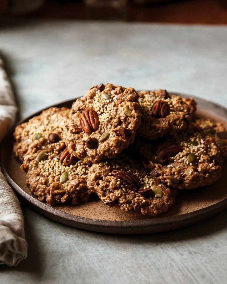 Nutty Vegan Breakfast Cookies In 2020 Breakfast Cookies Food Breakfast Cookie Recipe