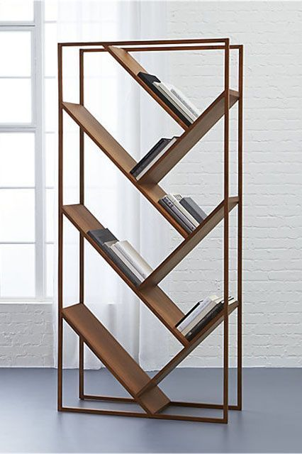 A bookcase and a room divider? We'll take it! CB2 Bookcase x Room Divider, $699, available at CB2. #refinery29 http://www.refinery29.com/best-space-saving-furniture#slide-14