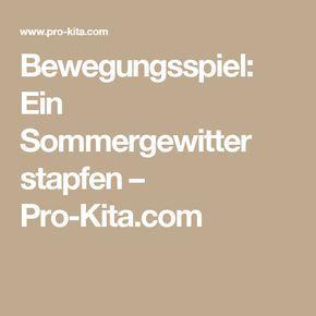 Bewegungsspiel: Ein Sommergewitter stapfen – Pro-Kita.com