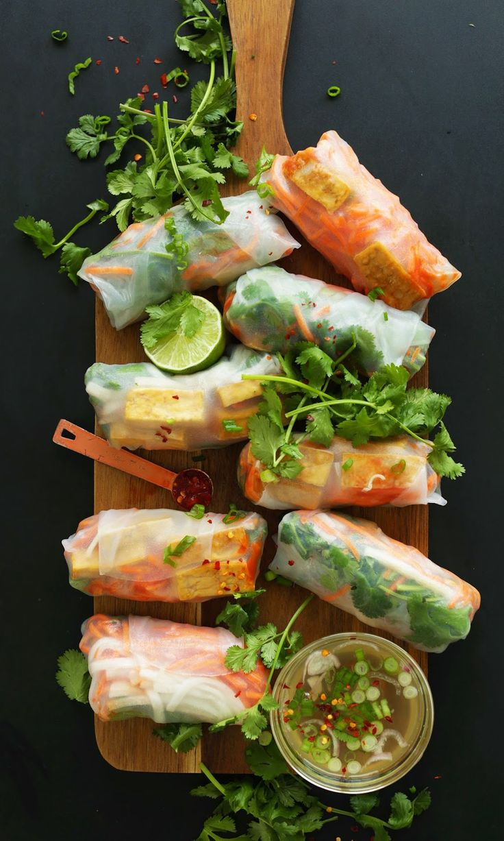 Rhonda's Creative Life: For Healthy Spring Eating, Try Spring Rolls!