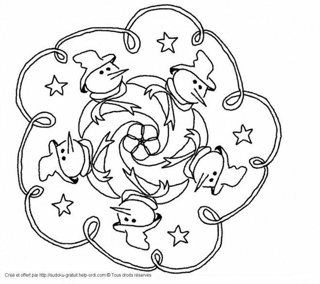 Coloriage Mandala Noel Magique Et Dessin Gratuit A Imprimer Dessine Les Coloriages Mandala Noel Magique De Dessin Coloriage Coloriage Hiver Coloriage Mandala
