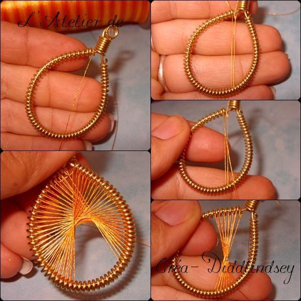 Tuto wire wire: Pendentif wire wire et fil à brodé machine ! (bijoux en fil de péruviens) - Le blog de diddlindsey