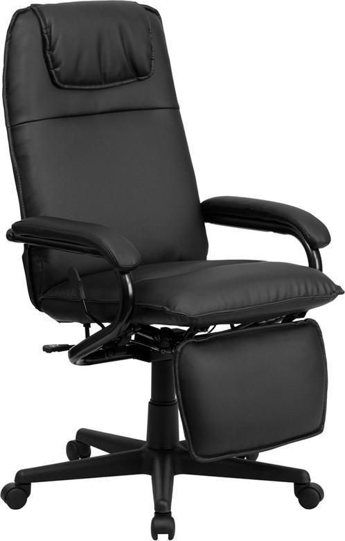 Flash Furniture BT-70172-BK-GG High Back Black Leather Executive Reclining Office Chair