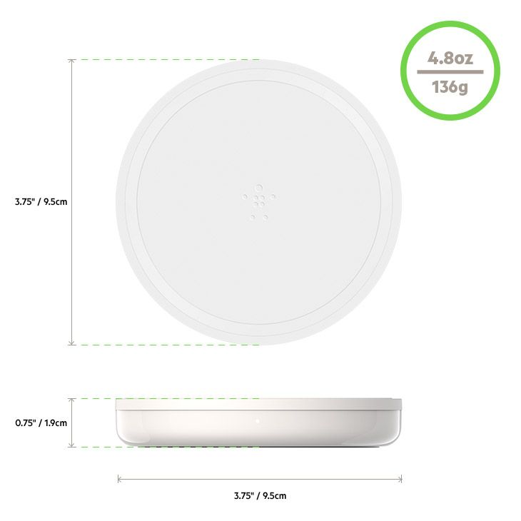 BOOST↑UP™ Bold Wireless Charging Pad 10W for Apple, Samsung