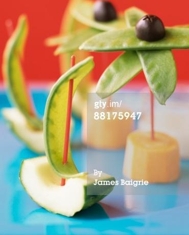 Palm Tree/Sailboat Veggie Snacks