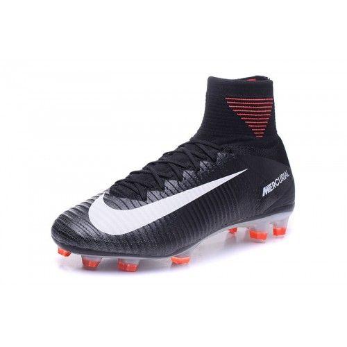 Nike Mercurial - Baratas 2017 Nike Mercurial Superfly V FG Negro Rosado Zapatos De Futbol
