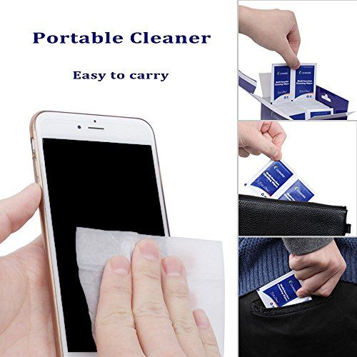 CLEANURSE Portable Mobile Electronic Devices Screen and Surface Cleaning Wipes for Smart-phone VR Headset Tablets and laptop,100 wipes pack