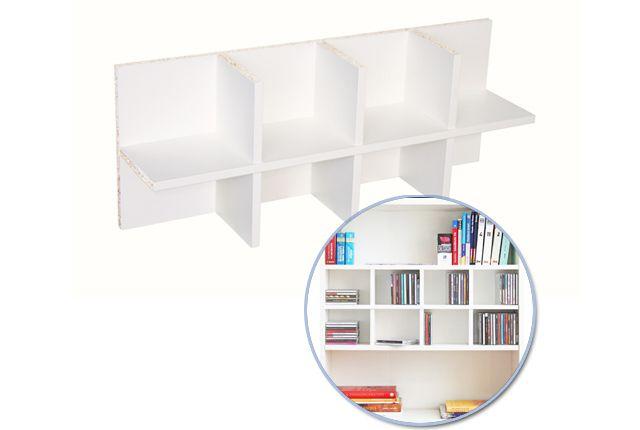 Wandregale - CD Einsatz für Ikea Regal Billy / weiß - ein Designerstück von NewSwedishDesign bei DaWanda