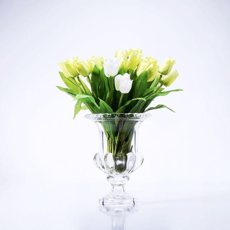 2 Sizes Living Room Garden Modern Tabletop Flower Plant Glass Vase Home Decoration Christmas Wedding Decorative Accessory