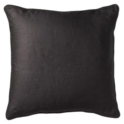 solid black decorative pillows